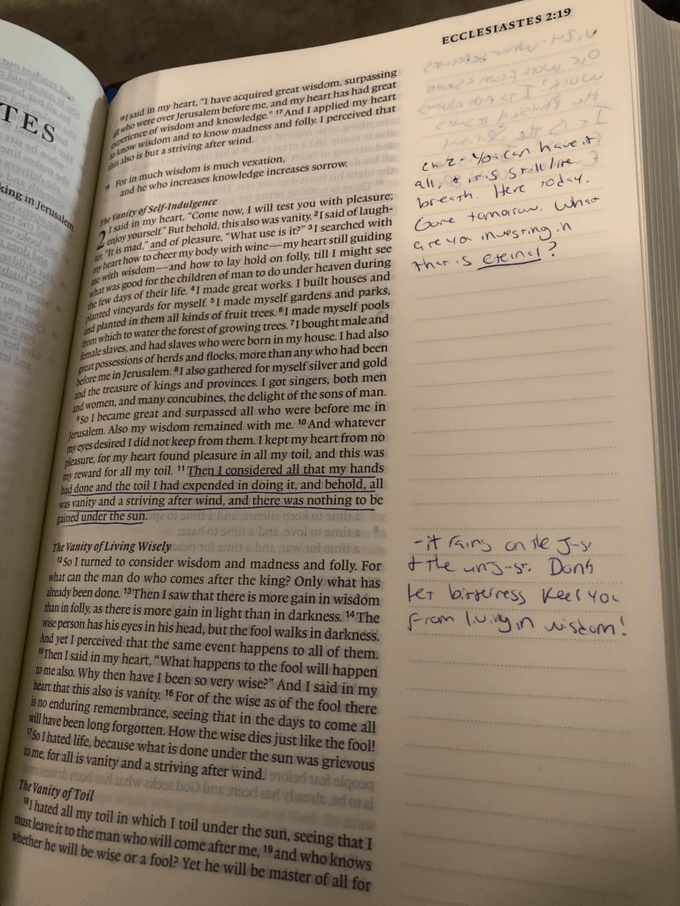 Journaling Bible example